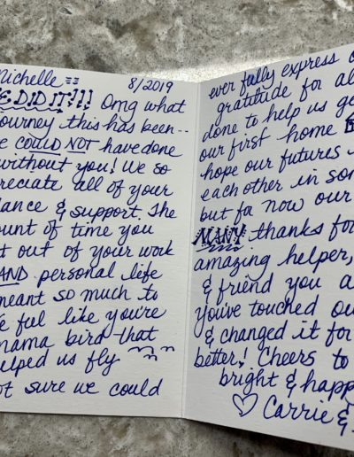 Michelle Thank You Letter